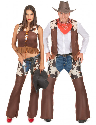 Cowboy & Cowgirl - Pardräkt för vuxna