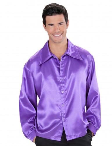 Violett discoskjorta - Maskeraddräkt för vuxna