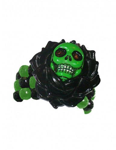 Gotiskt skelett armband i grönt och svart för vuxna - Halloween tillbehör