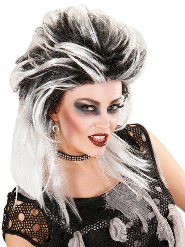 Punkigt - Peruk i svart och vitt till maskeraden