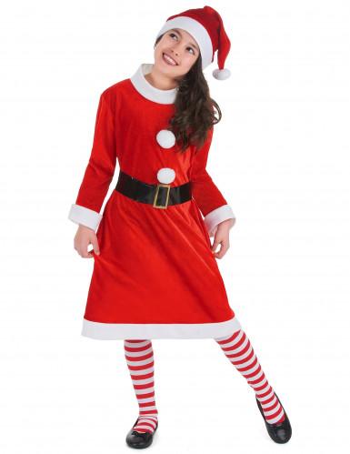 Tjusig tomteklänning för barn till jul