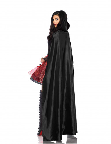 Förförisk vampyr med mantel - Halloweenkostym för vuxna-1