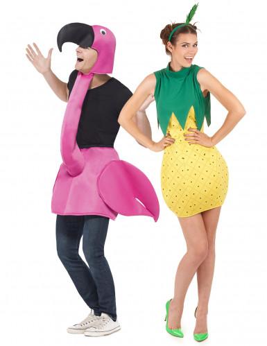 Fröken Ananas & Herr Flamingo - Pardräkt för vuxna