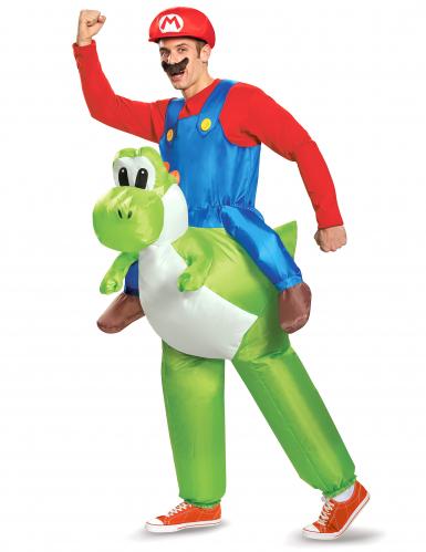 Carry me Yoshi - Uppblåsbar dräkt för vuxna till maskeraden