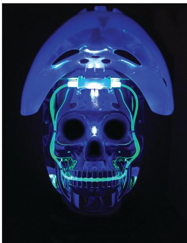 Hockeymask och dödskalle - Mask med ljus för vuxna-3