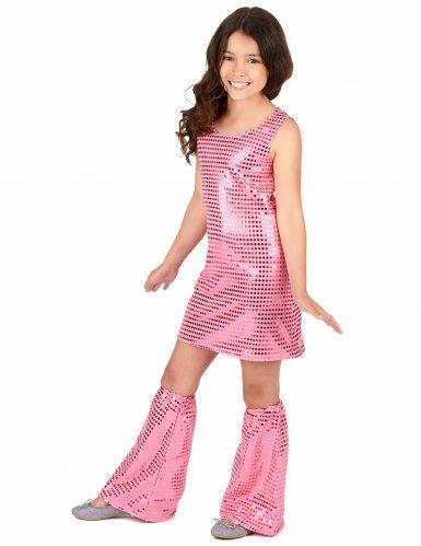 Discoklänning och benvärmare med paljetter för barn-1