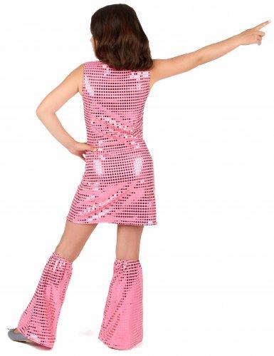 Discoklänning och benvärmare med paljetter för barn-2