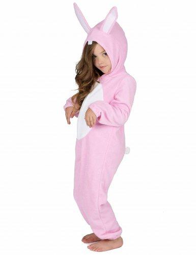 Rosa kaninoverall för barn-1