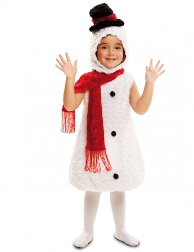 Mysig snögubbe med puffig kropp - Maskeraddräkt för barn