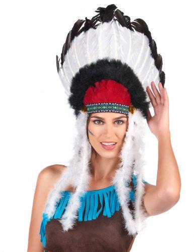 Huvudbonad för indianer till maskeraden vuxenstorlek-1