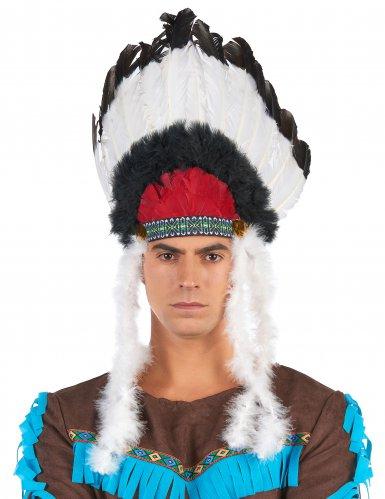 Huvudbonad för indianer till maskeraden vuxenstorlek-2