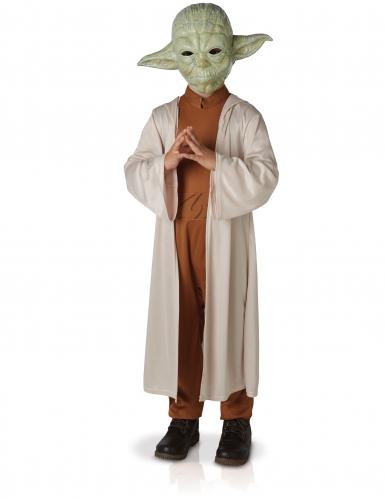 Lyxig Yoda-dräkt för barn till maskeraden från Star Wars™