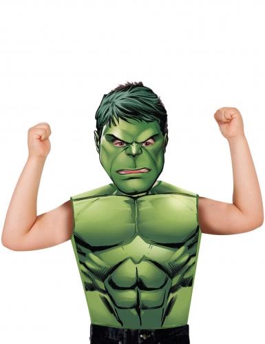 Hulken mask och t-skjorta för barn till maskeraden