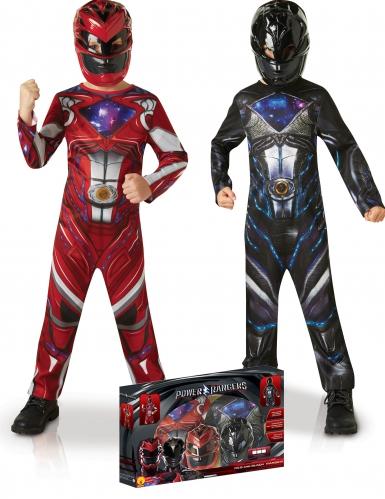 Svart och röd Power Rangers™ gåvoset för barn