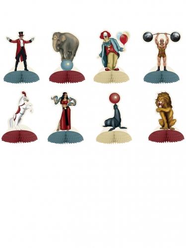 8 Bordsdekorationer med cirkustema 12,7 cm
