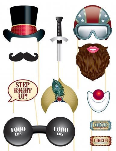 Retro Cirkus - Photobooth kit till festen