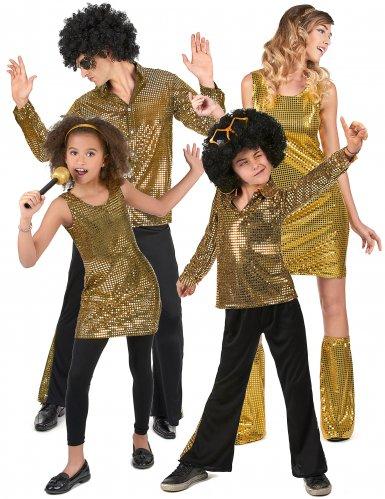 Gyllene gänget - Gruppdräkt i discostil för vuxna och barn