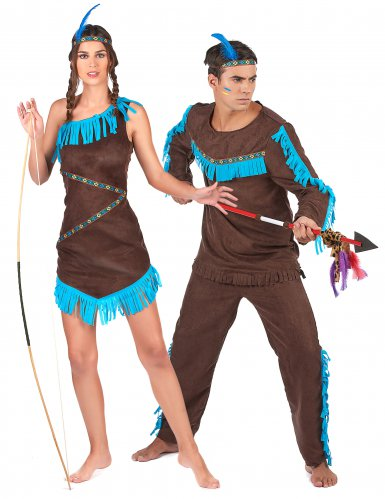 Stamhövdingar - Indiandräkt för par