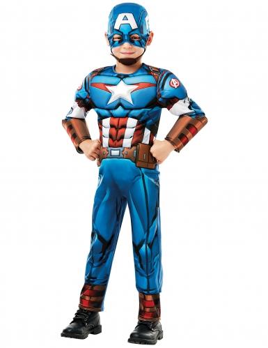 Captain America™ - Lysxig maskeradkostym för barn