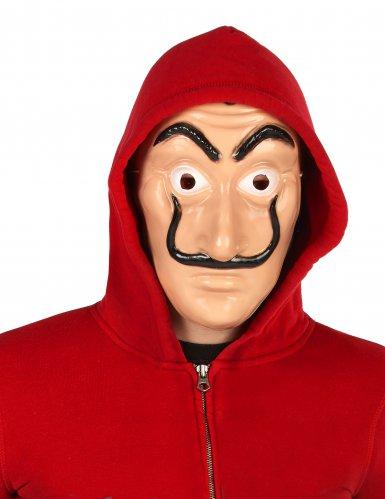 Bankrånarmask för vuxna med mustasch