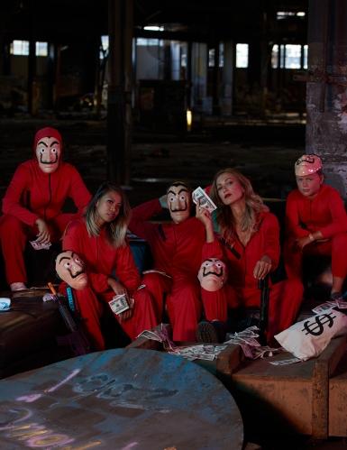 Casa de Papel röd rånaroverall ungdom-6