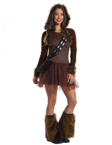 Chewbacca™ klänning - Klassisk dräkt för vuxna till festen