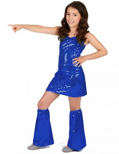 Blå discoprinsessa - Maskeradkläder för barn