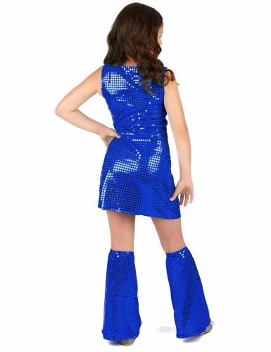 Blå discoprinsessa - Maskeradkläder för barn-2