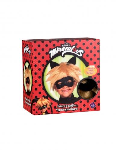 Miraculous™ Cat Noir peruk och mask barn-1