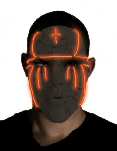 Svart LED-mask vuxen