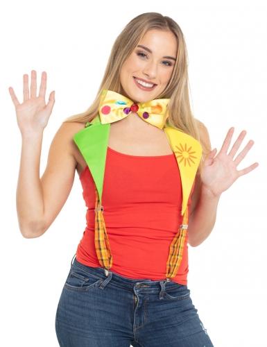 Clownhängslen med fluga vuxen