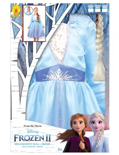 Frost 2 Elsa™ dräkt med fläta barn-4