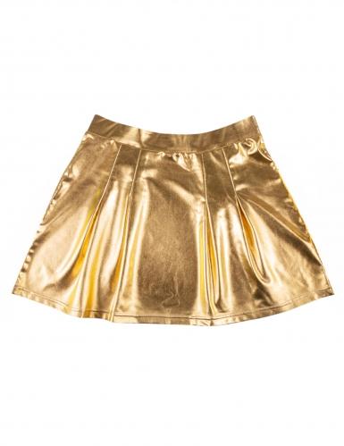 Guldfärgad discokjol dam-3