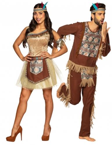 Indianer pardräkt vuxen
