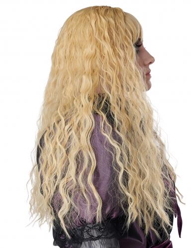 Lång lockig blond barnperuk-2