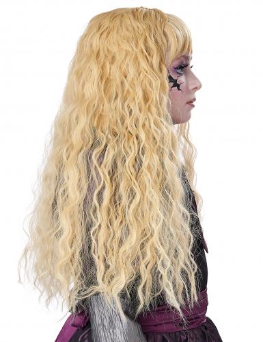 Lång lockig blond barnperuk-3