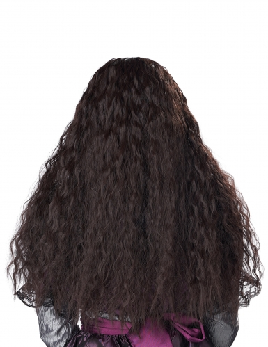 Lång lockig brun peruk barn-2