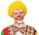 Gul afroperuk clown vuxna