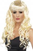Blond sjöjungfruperuk med lockar