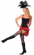 Röd burlesque dansare - utklädnad vuxen
