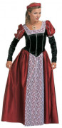 Maskeraddräkt medeltidsprinsessa för vuxen