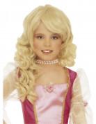 Blond peruk prinsessa barn