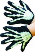 Handskar med skelett för barn till Halloween