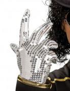 Michael Jackson™ silverhandske med paljetter barn