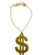 Halsband dollartecken guld