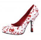 Blodiga högklackade skor