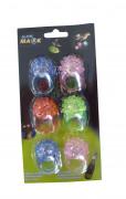 Förpackning med 6 lysande ringar barn