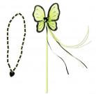 Grön prinsessa trollstav och halsband