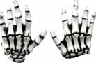 Handskar Skeletthänder Vuxen Halloween