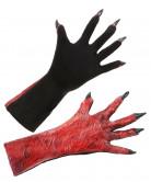 Demonhänder Röda Vuxen Halloween